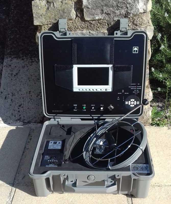 Caméra d'inspection des tuyauteries de piscine