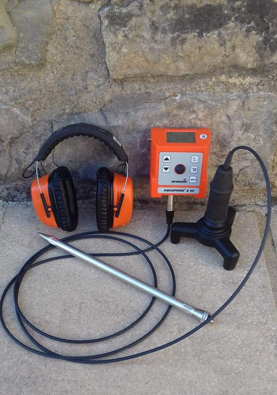 Matériel électro-acoustique de détection de fuite sur Tuyauterie