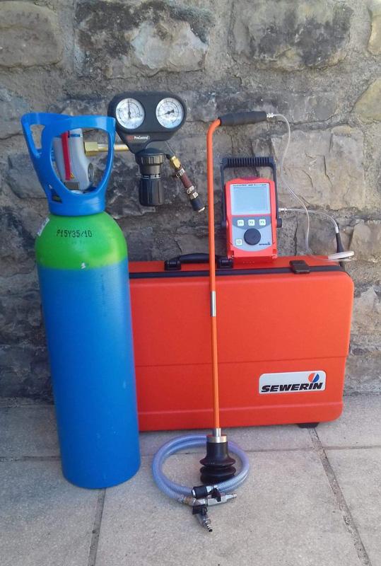 Matériel de détection de fuite par gaz traceur gard alès